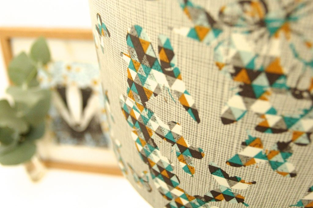 Butterfly folds handmade drum lampshade