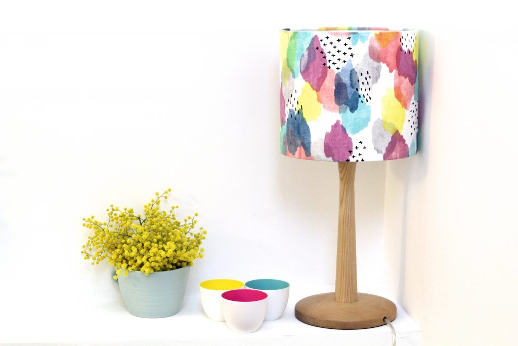 Canvas Multicoloured Lampshade Frolic Amp Footle